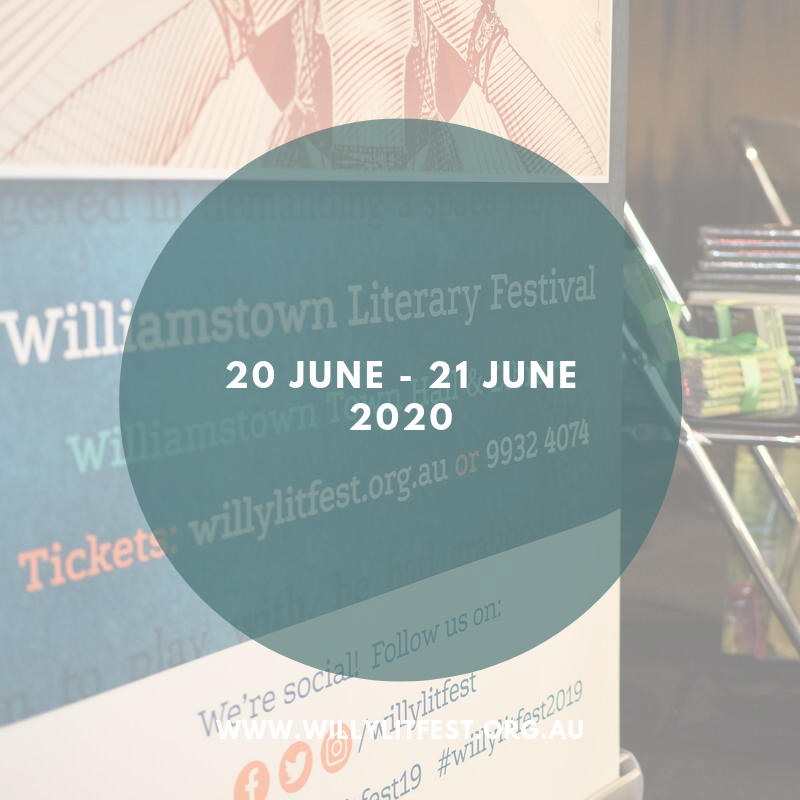 Willy Lit Fest sign with date